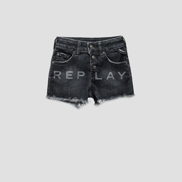 Denim shorts with REPLAY writing- REPLAY&SONS SG9582_050_75C-480_001_1