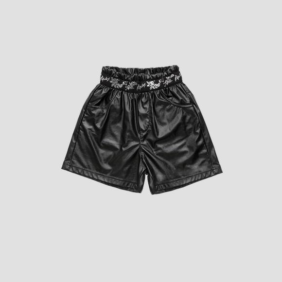 High waist shorts with lurex embroidery- REPLAY&SONS SG9609_050_84268_098_1