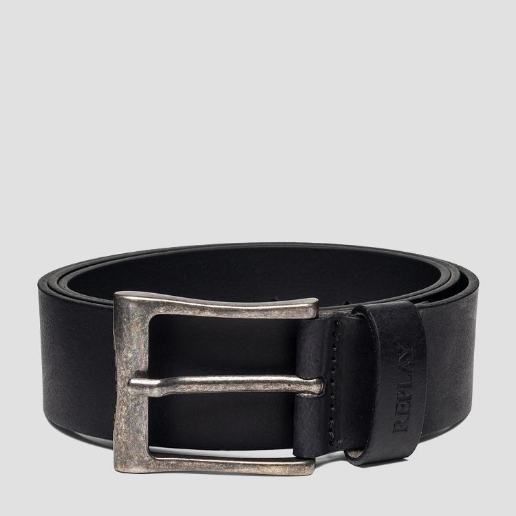 Leather belt with vintage buckle - Replay