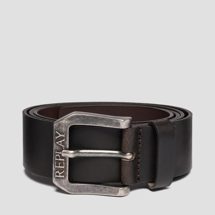 REPLAY brushed leather belt - Replay