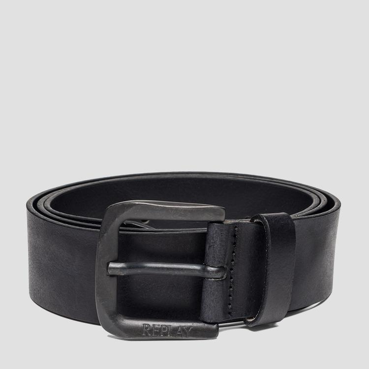Leather belt with square buckle - Replay