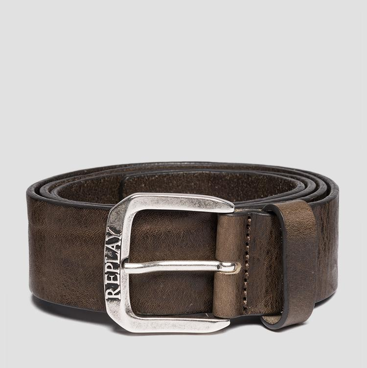 Leather belt with vintage effect - Replay