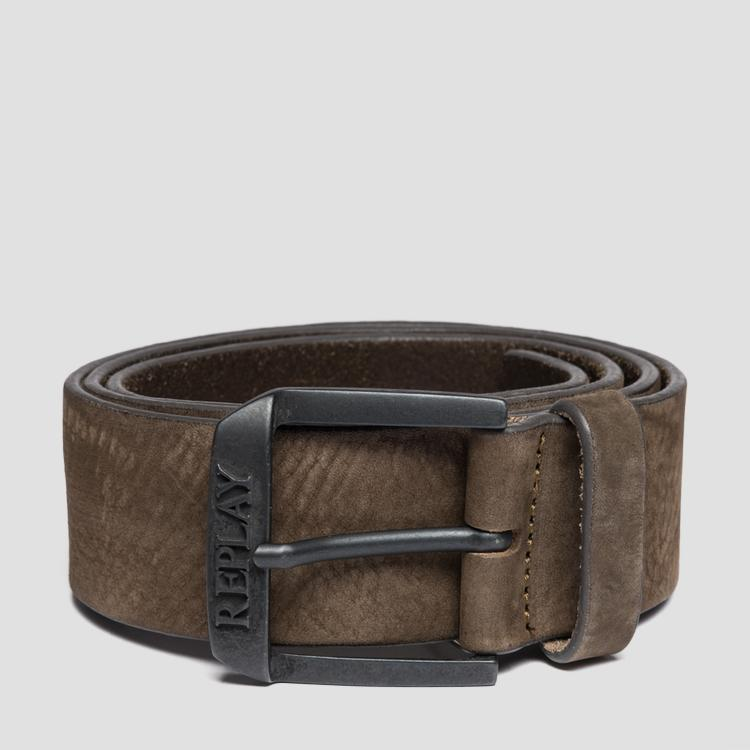 Belt in nubuck leather am2532.000.a3052