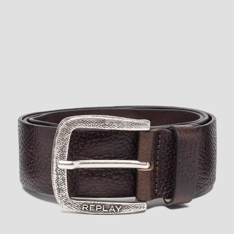 Hammered leather belt am2565.000.a3061a