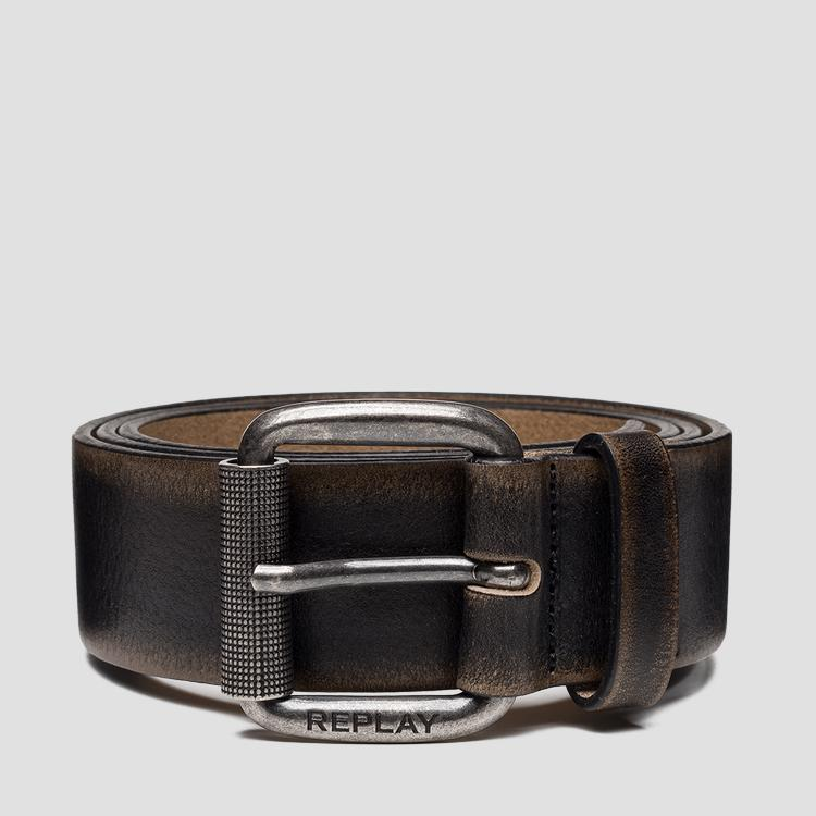 Brushed leather belt - Replay