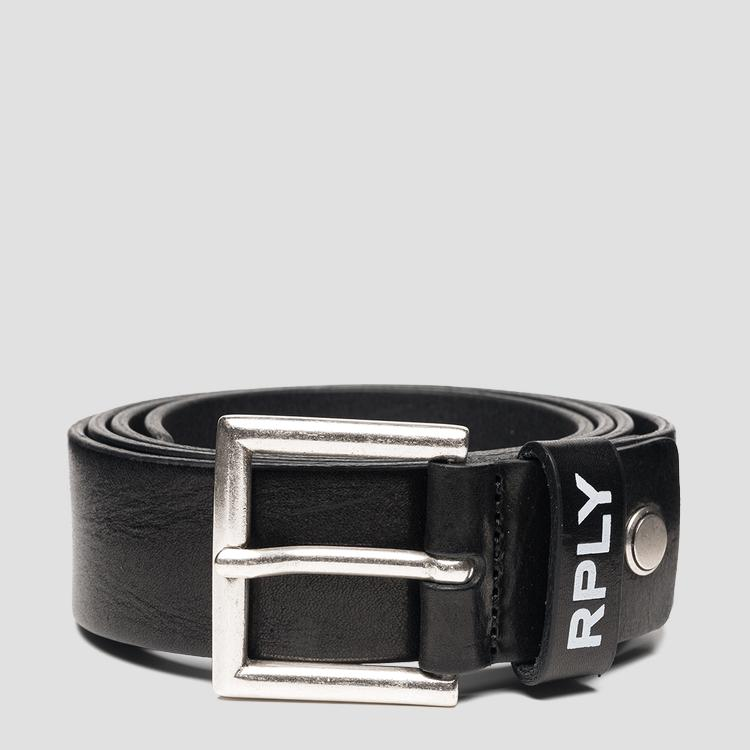 REPLAY hammered leather belt am2607.000.a3007