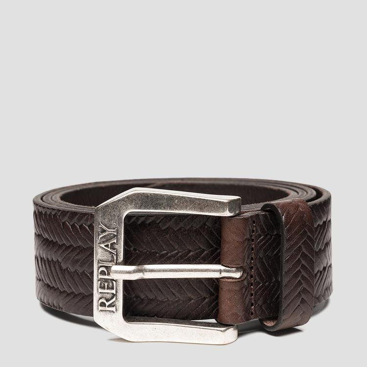 Belt in weaved leather - Replay
