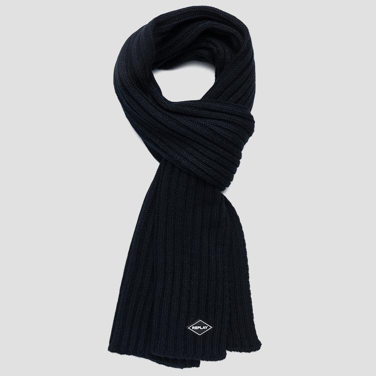 Ribbed knit scarf - Replay