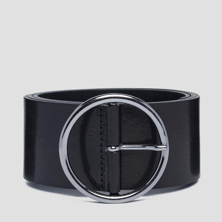 Wide pull-up leather belt aw2527.000.a3007