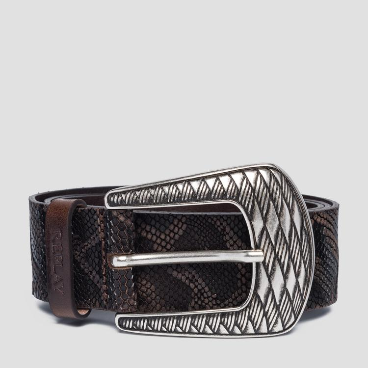 Snake leather belt aw2528.000.a3109a