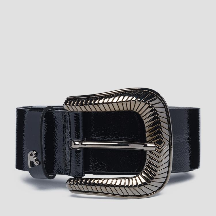 Smooth belt with REPLAY buckle aw2530.000.a0182b