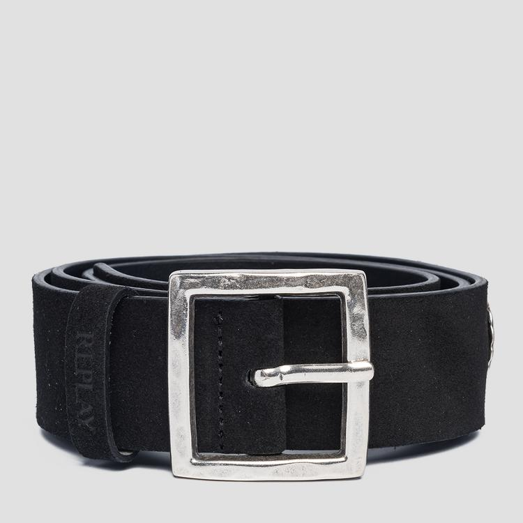 Suede leather belt aw2533.000.a3054c
