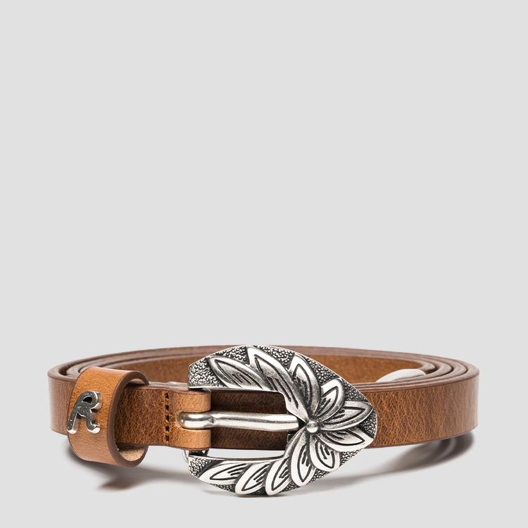 REPLAY thin leather belt aw2546.000.a3007