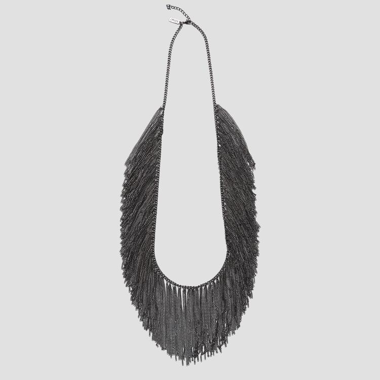 Necklace with metal fringes aw7153.000.a6006