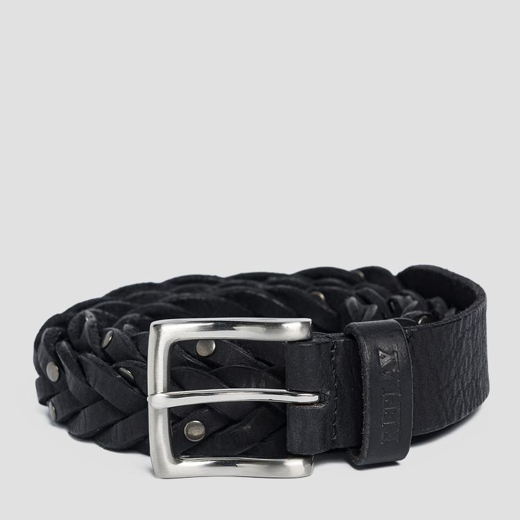 Weaved leather belt ax2253.000.a3000