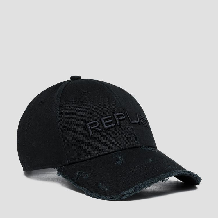 REPLAY cap with bill with used effect ax4161.001.a0113