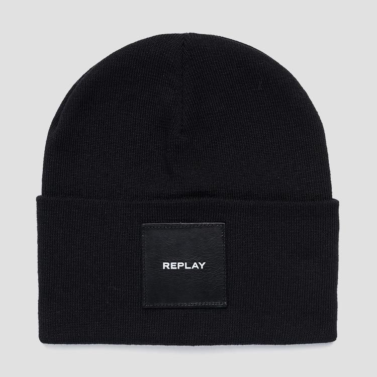 Solid-coloured REPLAY beanie ax4167.001.a7059