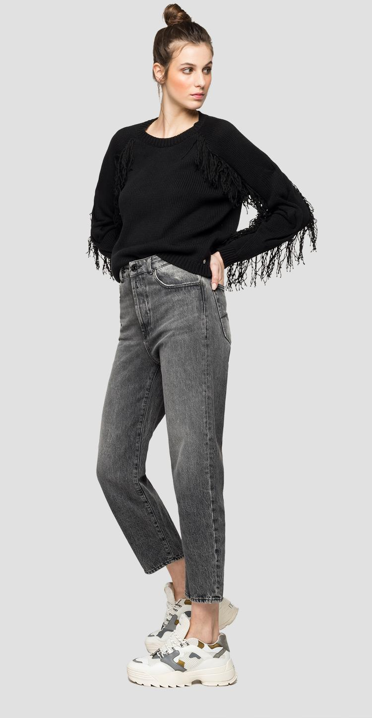 Sweater with long fringes - Replay