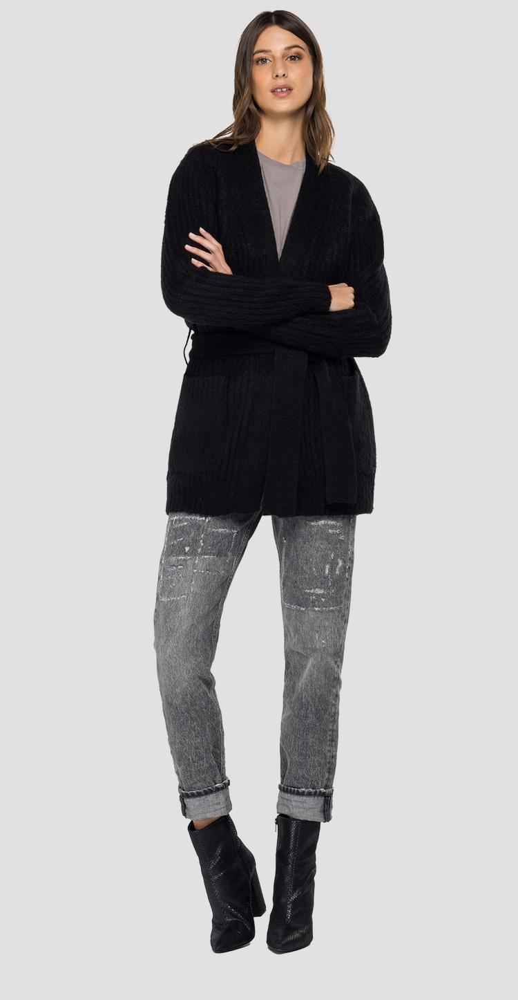 Long cardigan with pockets dk7063.000.g22652
