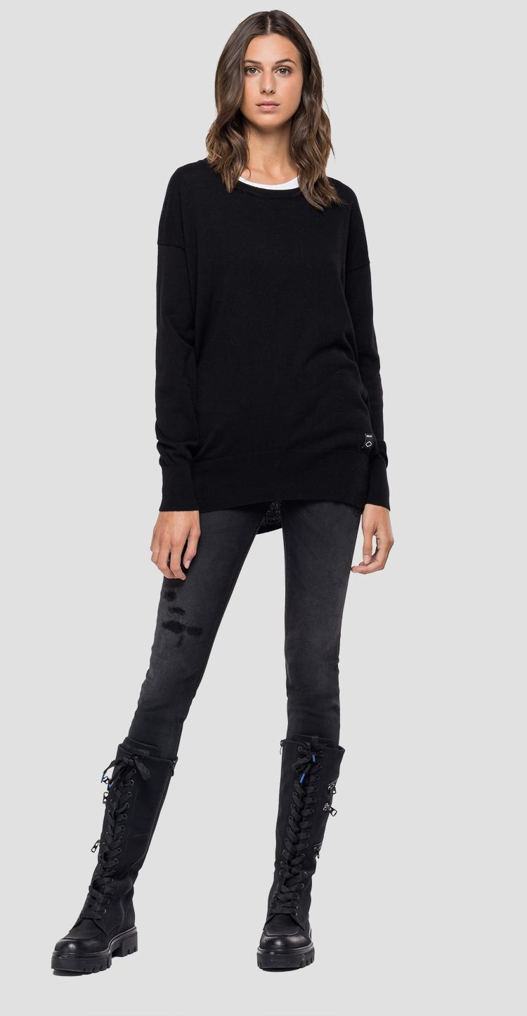 Crewneck Recycle Cashmere sweater dk7085.000.g23014
