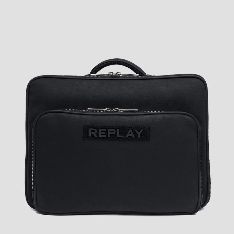 Laptop bag in eco-leather - Replay