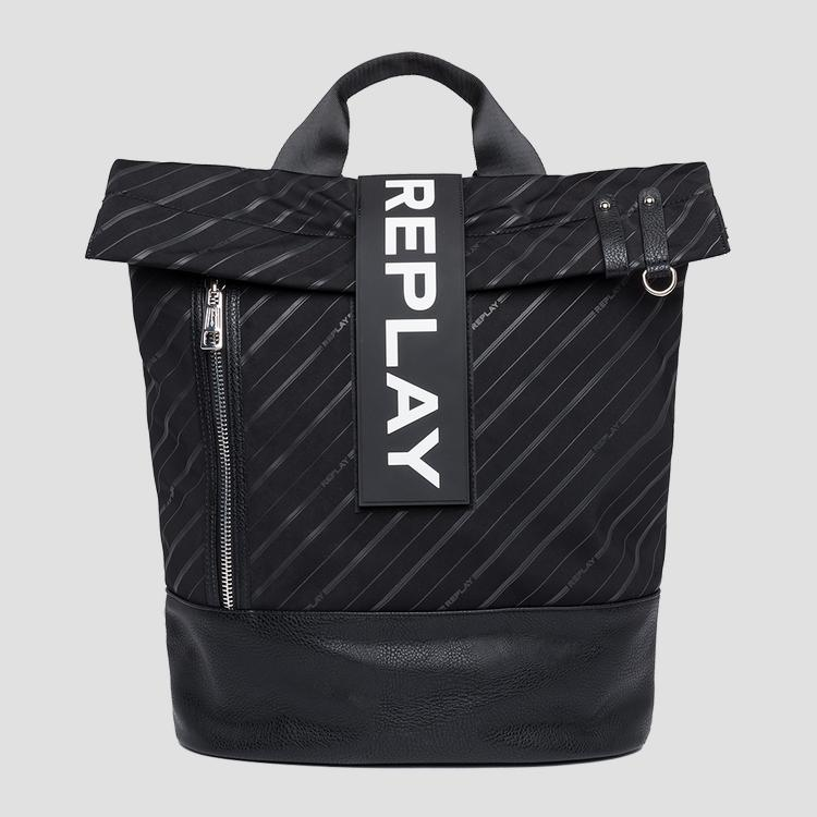 Backpack in logoed technical fabric fm3417.000.a0172a