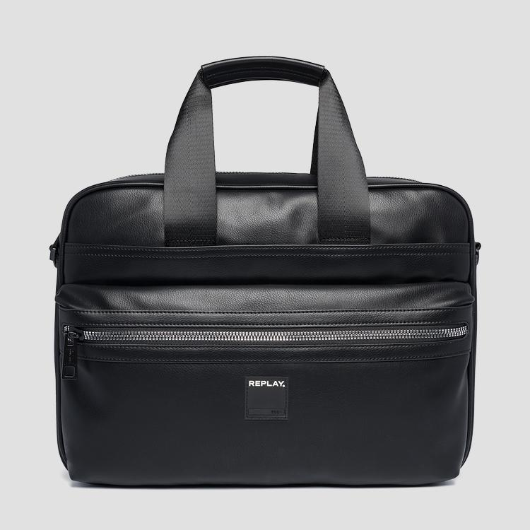 Laptop bag in eco-leather fm3437.000.a0015