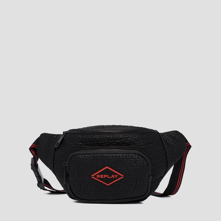 REPLAY waist bag with embossed effect fm3467.000.a0423