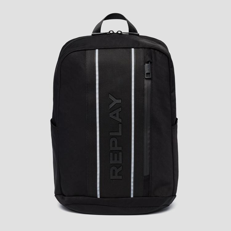 Nylon and denim REPLAY backpack fm3468.000.a0425
