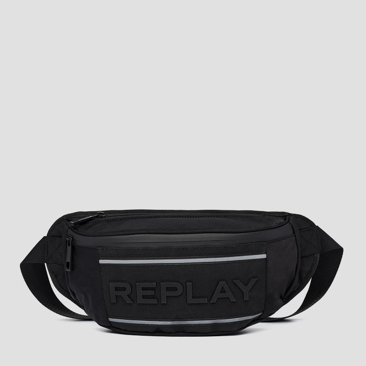 Nylon and denim waist bag fm3469.000.a0425