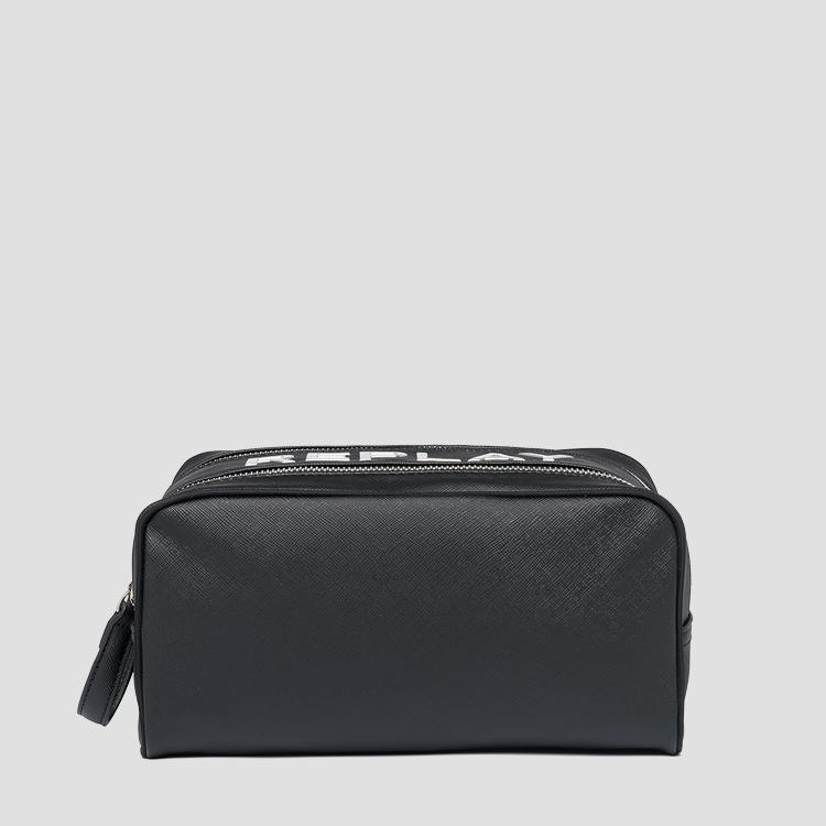 Zipped clutch with saffiano effect fm3490.000.a0283c