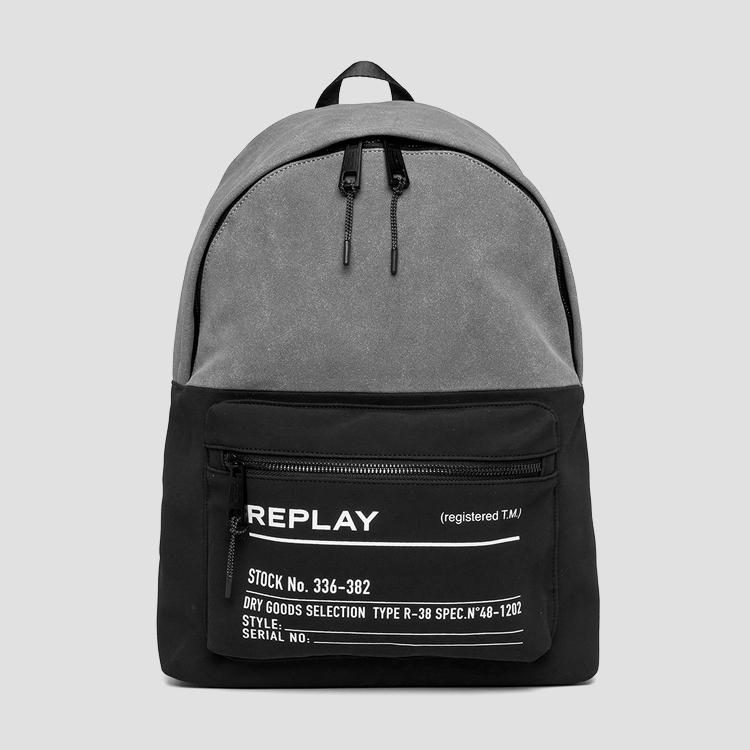 Two-tone fabric REPLAY backpack - Replay