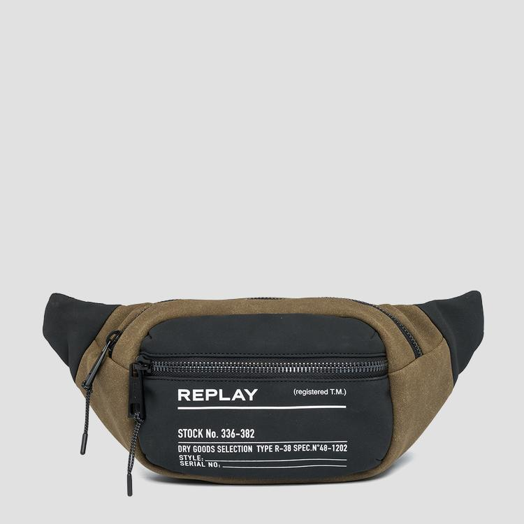 Two-tone fabric REPLAY waist bag fm3505.000.a0175