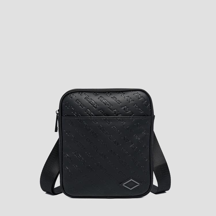 Crossbody bag with all-over REPLAY writing fm3530.000.a0157c