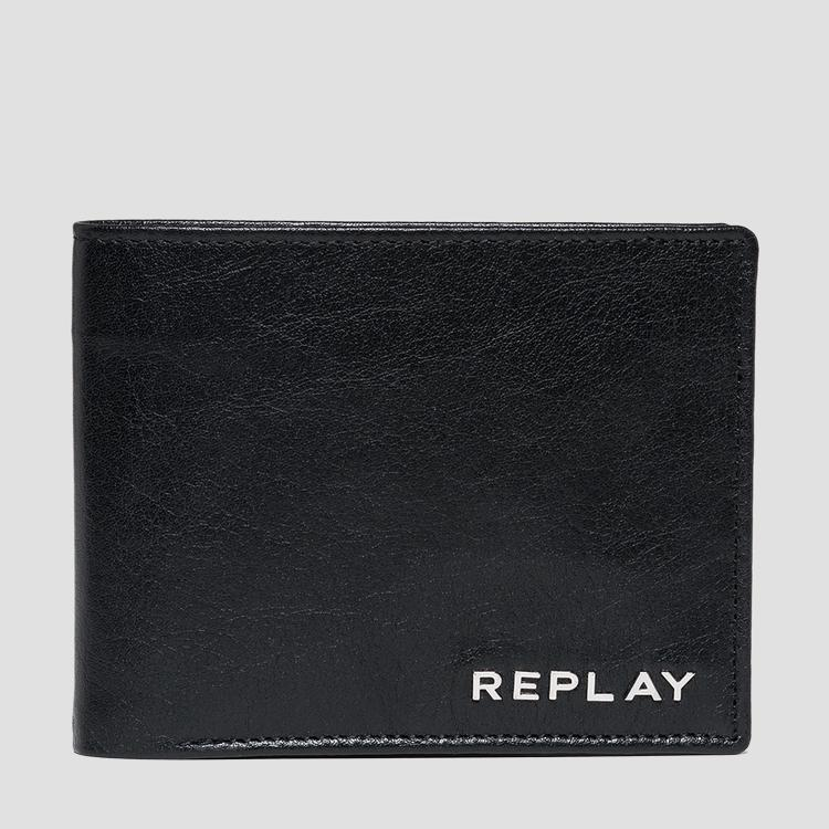 Leather wallet with vintage effect fm5149.000.a3005a