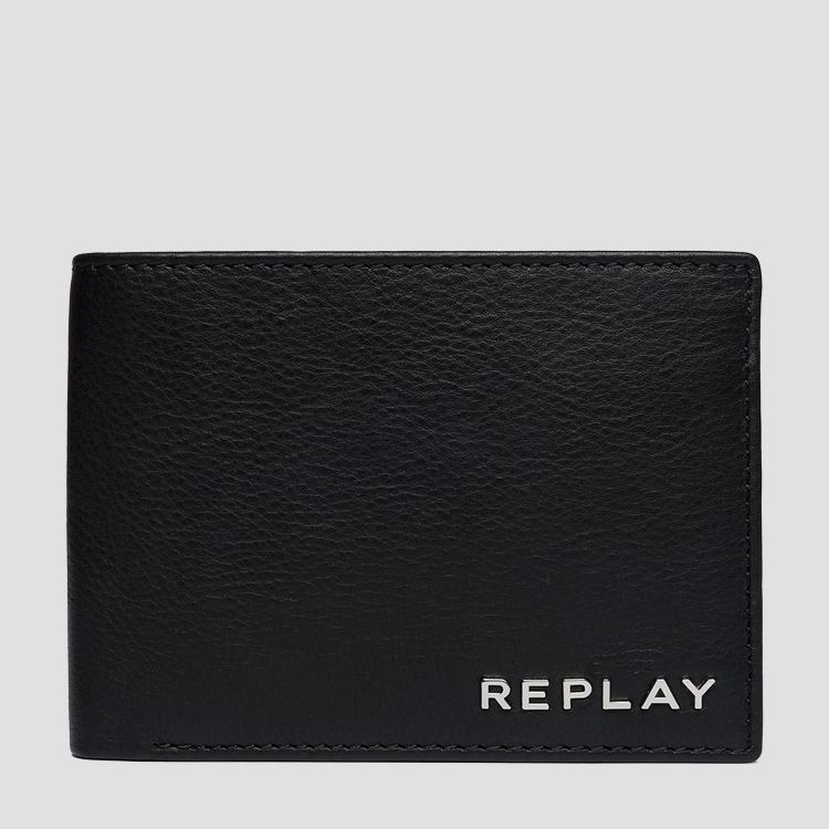 Hammered leather wallet - Replay