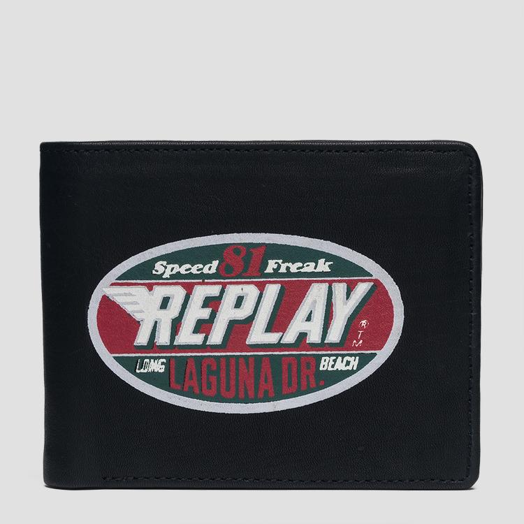 Wallet with vintage print and logo fm5174.000.a3127