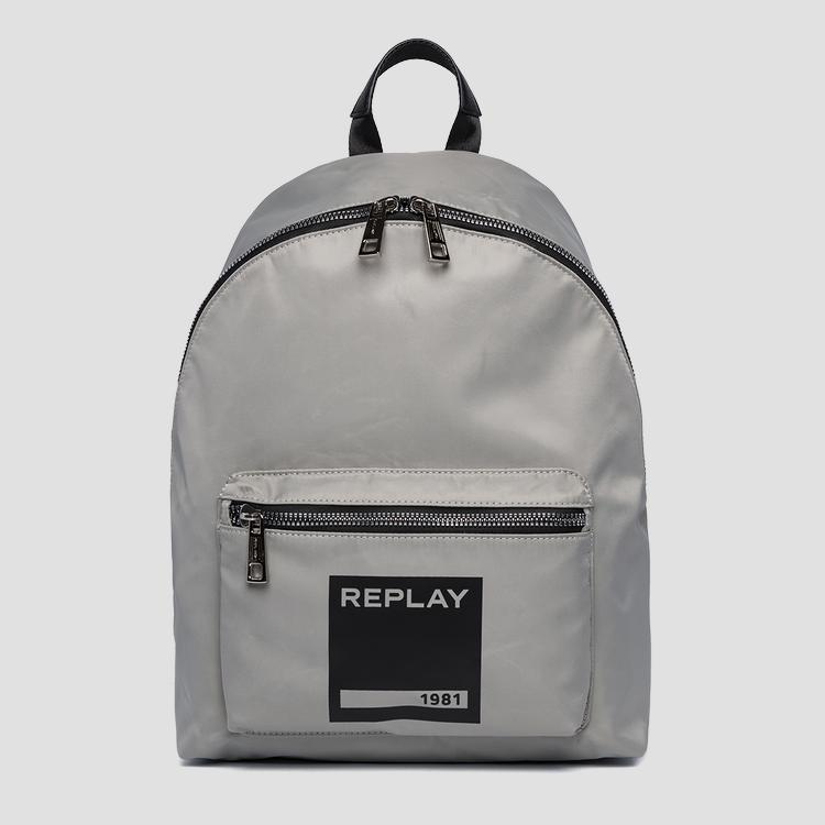 Unisex nylon backpack with pocket - Replay