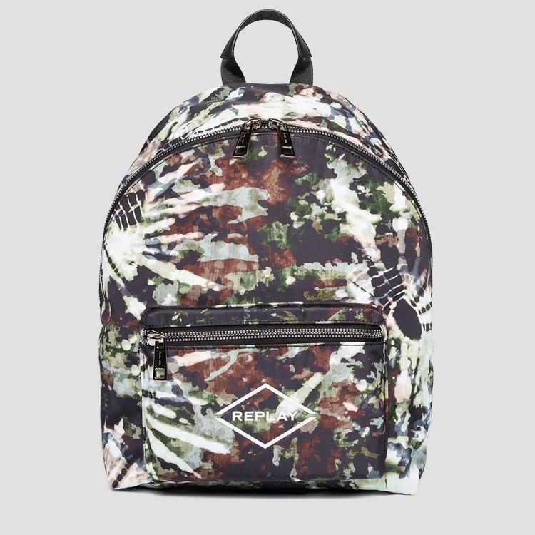 Printed nylon backpack REPLAY fu3071.001.a0021b