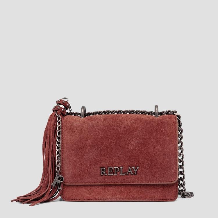 REPLAY crossbody bag in solid-coloured suede fw3001.009.a3154