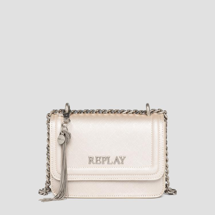 REPLAY crossbody bag with saffiano effect fw3001.015.a0283
