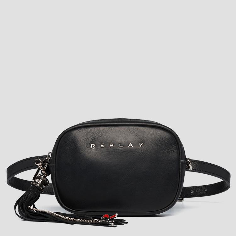 Waist bag in plain cow leather fw3057.000.a3127c