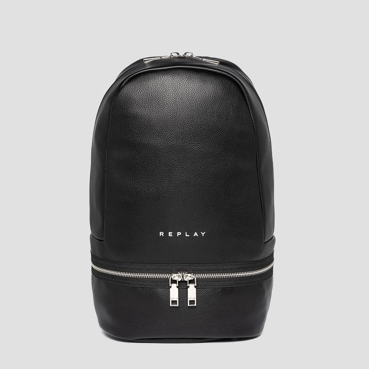 Solid-coloured REPLAY backpack with zipper fw3090.000.a0363c