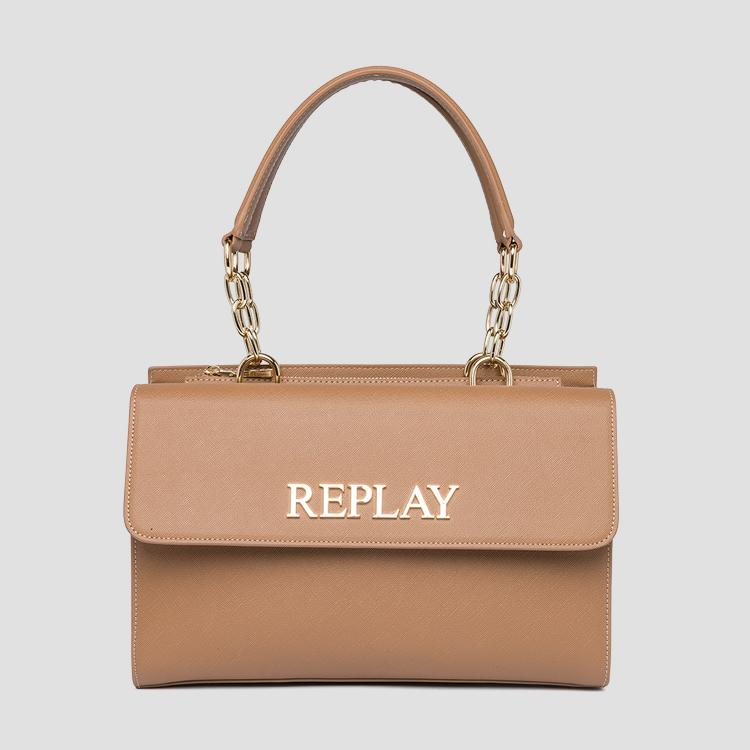 Bag with flap and saffiano effect fw3137.000.a0283