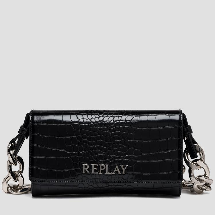 REPLAY purse with croc print fw3216.001.a0292f
