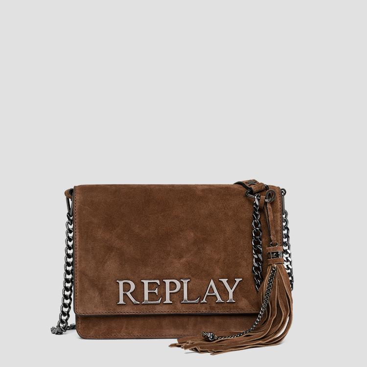 Suede leather shoulder bag - Replay