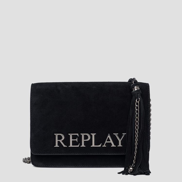 Shoulder bag in suede with tassel fw3788.009.a3154