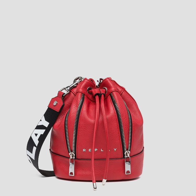 8372d0460f430 Eco-leather bucket bag with zipper fw3802.000.a0362