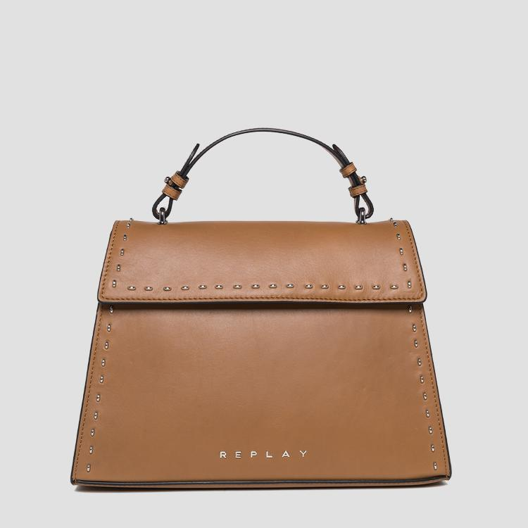 Trapeze-shaped leather bag fw3832.000.a3127c