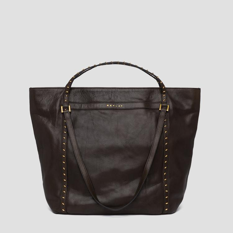 Shopper bag with studs - Replay